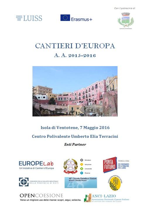 Cantieri d'Europa 2015-2016 - Locandina Ventotene 07.05.16