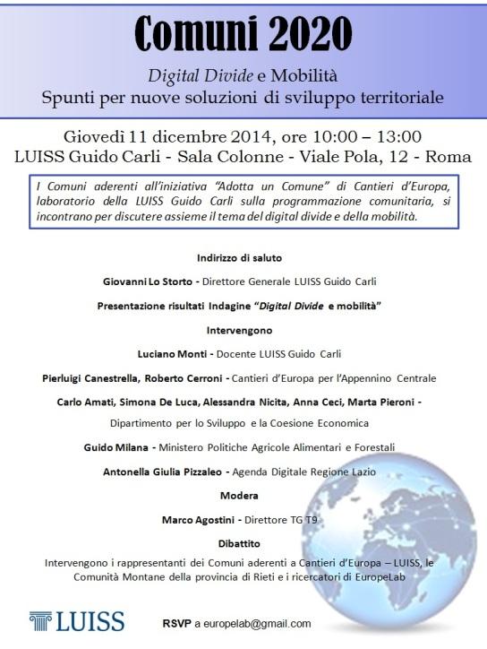 Comuni 2020 11.12.14 Locandina
