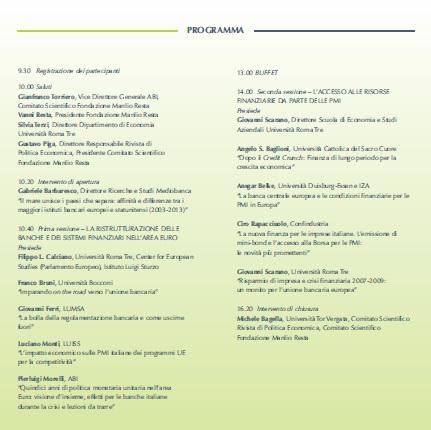Conferenza ABI 28.01.15 programma