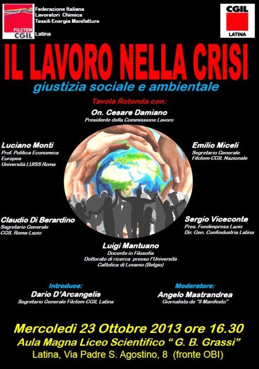 Il lavoro nella crisi - CGIL - Latina 23.10.13