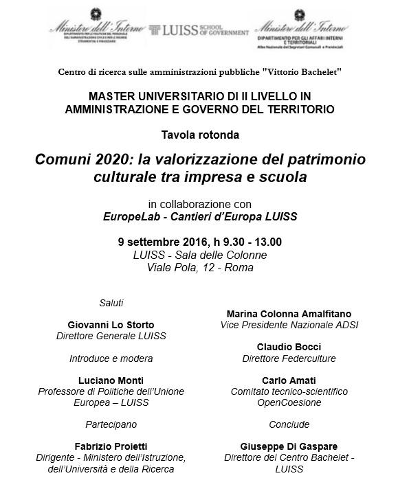 locandina-evento-comuni2020-la-valorizzazione-del-patrimonio-culturale-tra-impresa-e-scuola-09-09-16