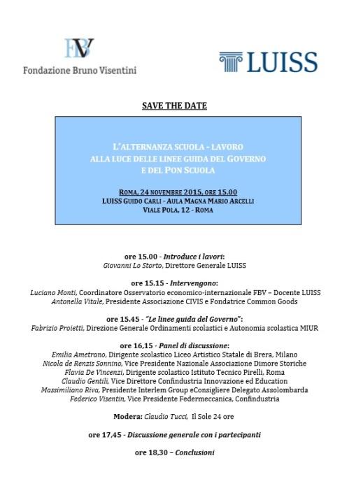 Programma Convegno Alternanza scuola-lavoro 24.11.15