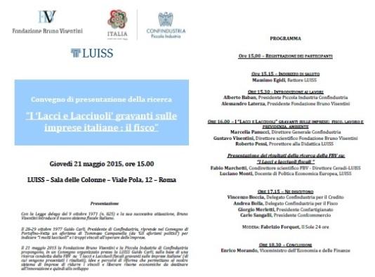 Programma convegno Lacci e lacciuoli 21.05.15