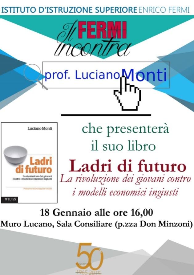 Locandina presentazione Ladri di futuro IIS Fermi Muro Lucano 18.01.16