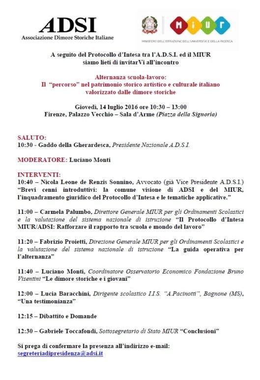 Programma convegno ADSI - MIUR 14 luglio 2016